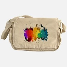 Rainbow Splatter Messenger Bag
