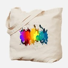 Rainbow Splatter Tote Bag