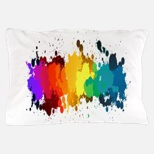 Rainbow Splatter Pillow Case