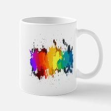 Rainbow Splatter Mugs