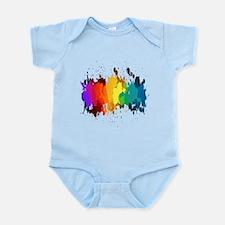 Rainbow Splatter Body Suit