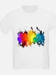 Rainbow Splatter T-Shirt