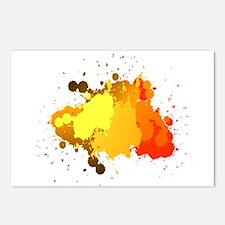 Paint Splatter Postcards (Package of 8)