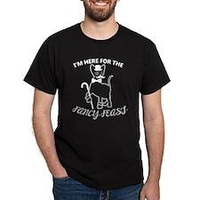 Fancy Cat (on black) T-Shirt