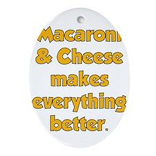 Mac Cheese Ornament (Oval)