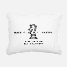 Have Gun Will Travel Rectangular Canvas Pillow