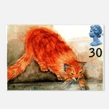 1995 Great Britain Ginger Cat Postage Stamp Postca