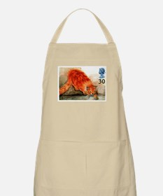 1995 Great Britain Ginger Cat Postage Stamp Apron