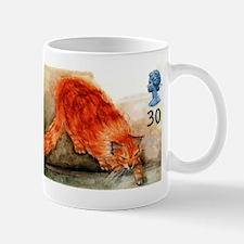1995 Great Britain Ginger Cat Postage Stamp Mugs
