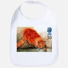 1995 Great Britain Ginger Cat Postage Stamp Bib