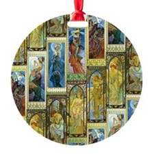 Mucha's Night and Day Ornament