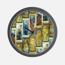 Mucha's Night and Day Wall Clock