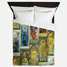 Mucha's Night and Day Queen Duvet