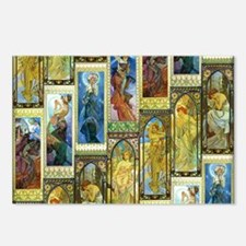 Mucha's Night and Day Postcards (Package of 8)