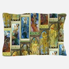 Mucha's Night and Day Pillow Case