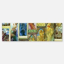 Mucha's Night and Day Bumper Bumper Bumper Sticker