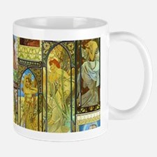 Mucha's Night and Day Mugs