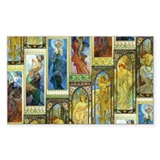 Mucha's Night and Day Decal