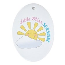 Little Miss Sunshine Ornament (Oval)