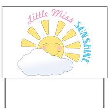 Little Miss Sunshine Yard Sign
