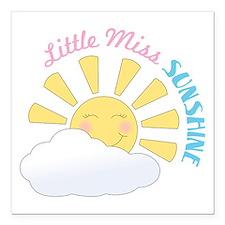 "Little Miss Sunshine Square Car Magnet 3"" x 3"""