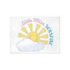 Little Miss Sunshine 5'x7'Area Rug