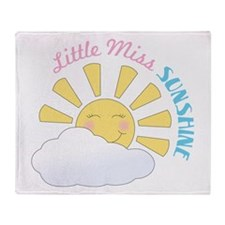 Little Miss Sunshine Throw Blanket
