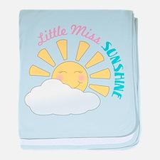 Little Miss Sunshine baby blanket