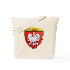 Poland Metallic Shield Tote Bag