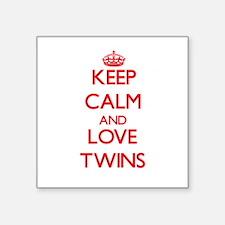 Keep calm and love Twins Sticker