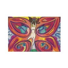 Butterfly Lady Rectangle Magnet