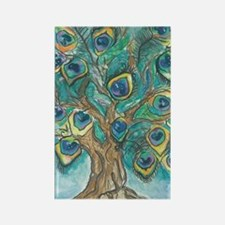 Peacock Tree Rectangle Magnet