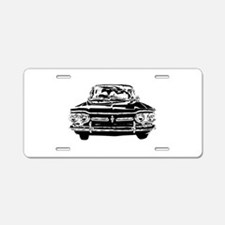 Early Corvair Aluminum License Plate