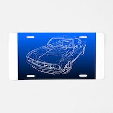 Late Model Corvair Aluminum License Plate