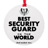 Security guard christmas Round Ornament