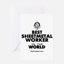 The Best in the World Sheetmetal Worker Greeting C
