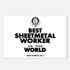 The Best in the World Sheetmetal Worker Postcards