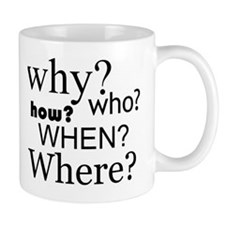 Questions Words Mugs