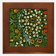 William Morris vintage design: Blackth Framed Tile