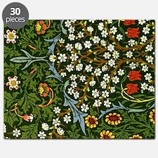 William Morris vintage design: Blackthorn Puzzle