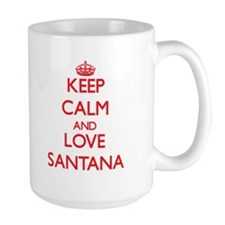 Keep calm and love Santana Mugs