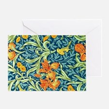 William Morris design: Iris floral p Greeting Card