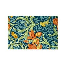 William Morris design: Iris flora Rectangle Magnet