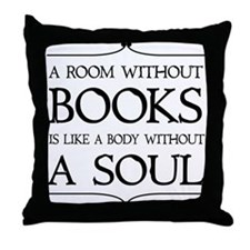 Room Without Books Throw Pillow