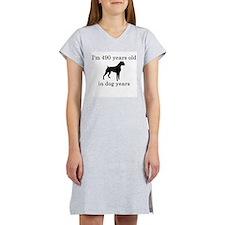70 birthday dog years boxer Women's Nightshirt