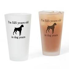 75 birthday dog years boxer Drinking Glass