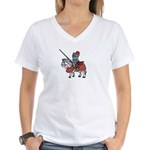 Shining Knight Women's V-Neck T-Shirt