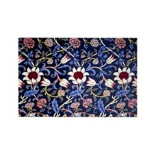 William Morris design: Indigo pat Rectangle Magnet