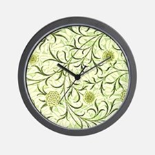 William Morris design: Scroll and Flowe Wall Clock