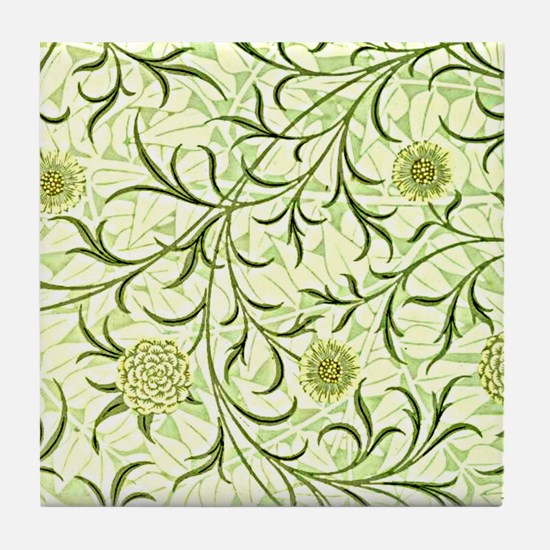 William Morris design: Scroll and Flo Tile Coaster